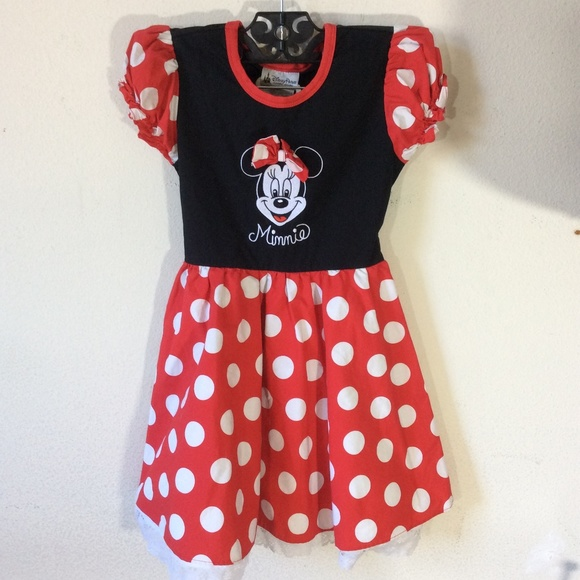 NWT Minnie Mouse Baby Girls White Shirt Red Polka Dot Skirt Outfit Set